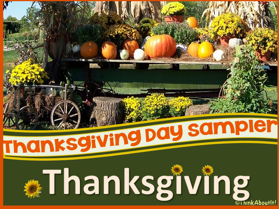 Free Thanksgiving Activities Sampler