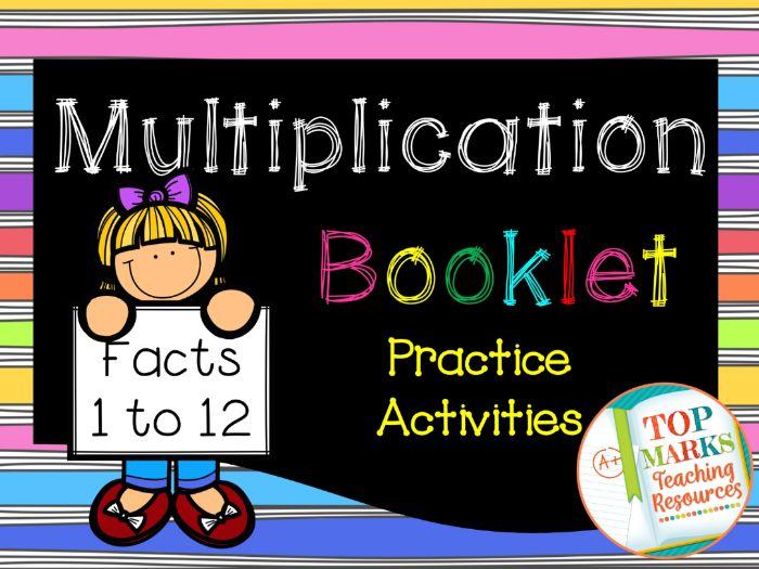 1-12 Multiplication Booklet