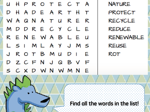 Earth Day word searches (differentiated)