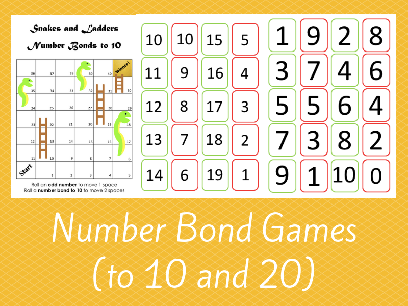 Number Bond Games (to 10 and 20)