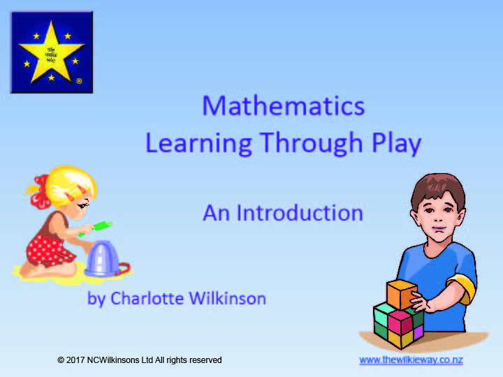 Mathematics Learning Through Play