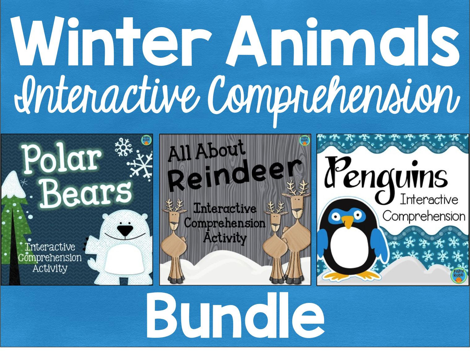 Winter Animals Interactive Comprehension Bundle by FishyTeacher ...