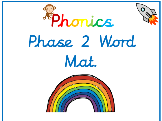 Phonics Phase 2 Word Mat