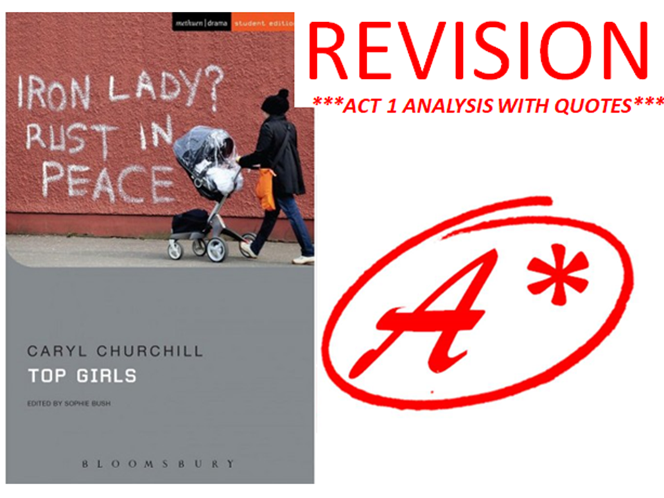TOP GIRLS BY CARYL CHURCHILL ACT 1 REVISION