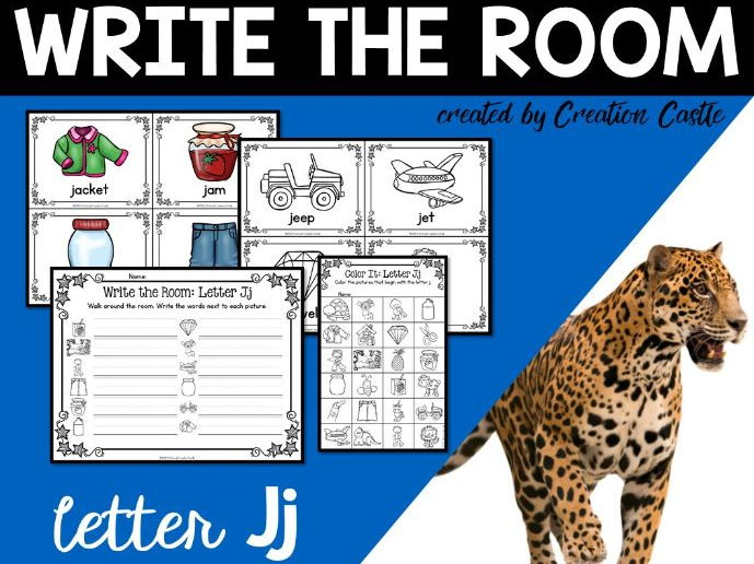 Alphabet Write the Room - Letter J