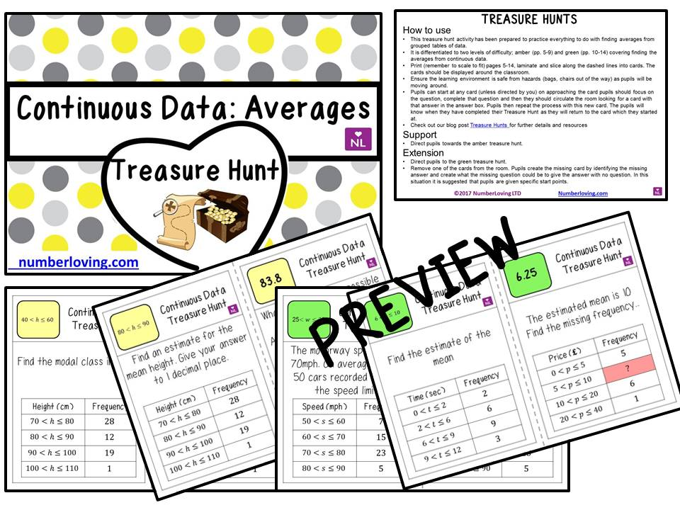 Continuous Data (Treasure Hunt)