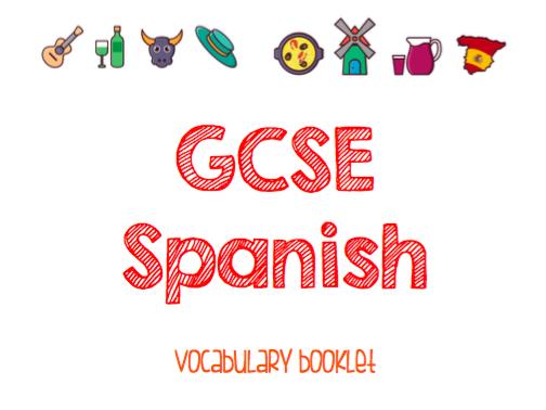 AQA GCSE Spanish Vocab booklet