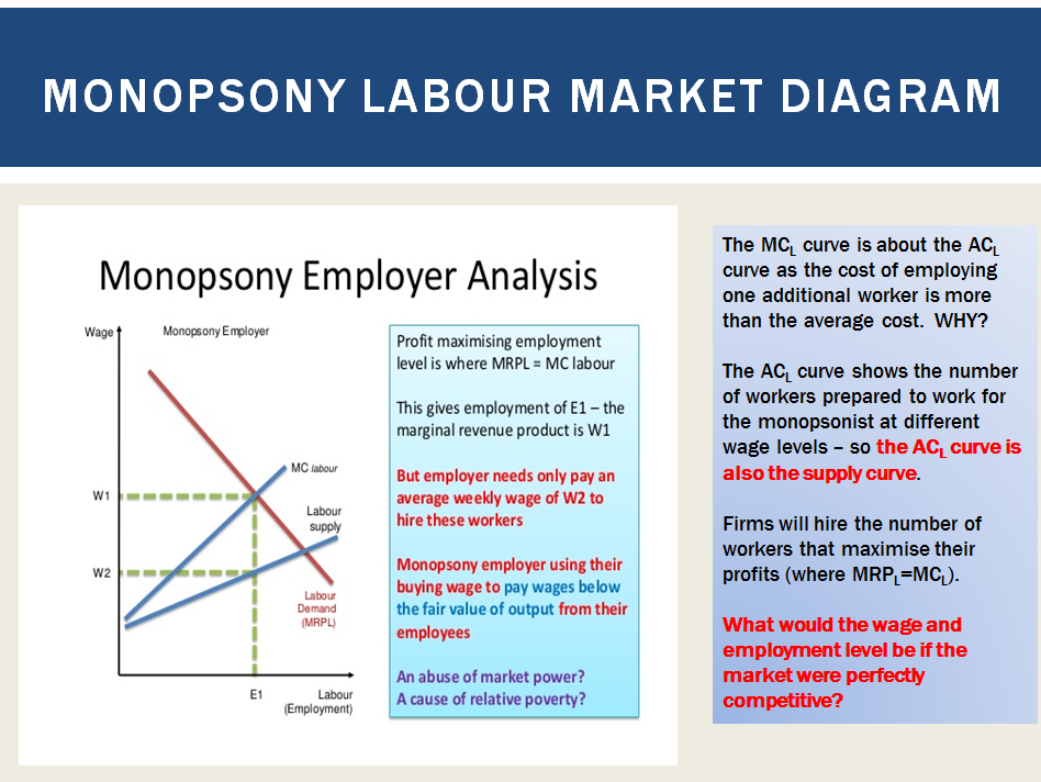 Labour Markets:  Wage differentials, Monopsony Labour Markets and Trade Unions