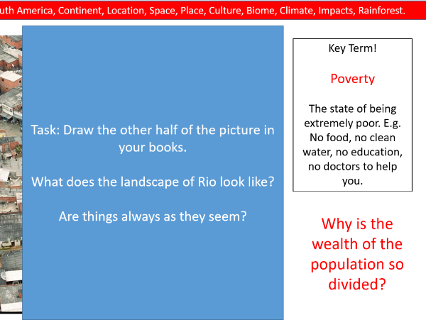 Geography- Rio Case Study- Poverty and Jobs