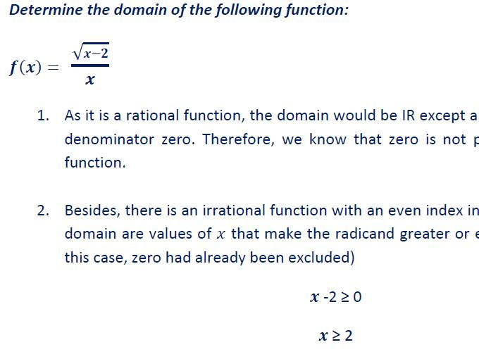Domain of a function (Includes answer key)