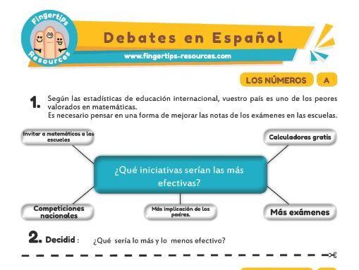 Números - Debates in Spanish