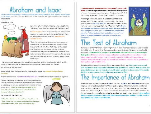Genesis: Abraham and Isaac: Differentiated Information and Activity Sheets