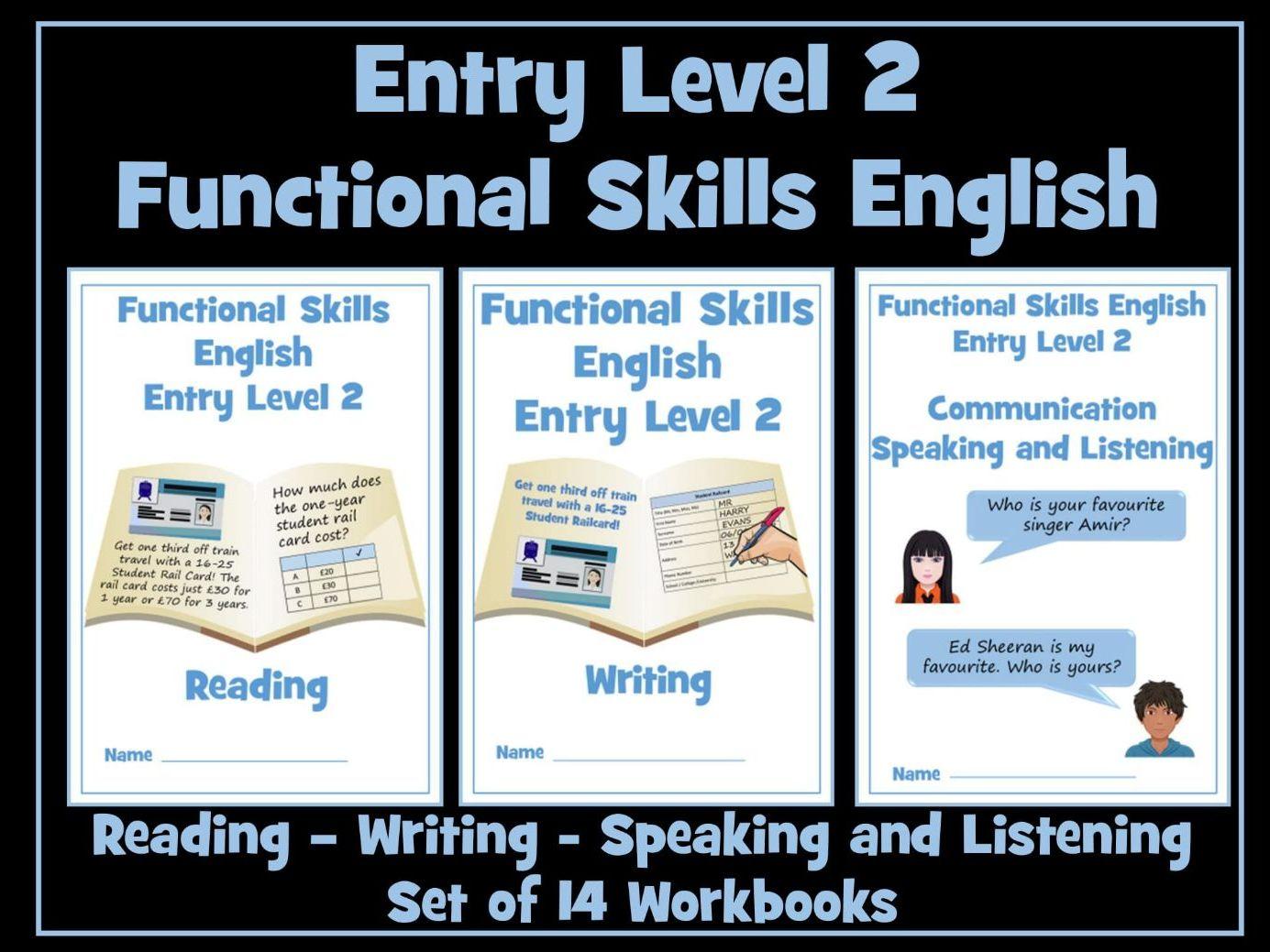 Functional Skills English Entry Level 2 Workbooks Bundle