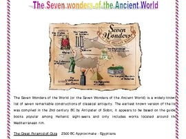Research Project on The Seven Wonders of the World