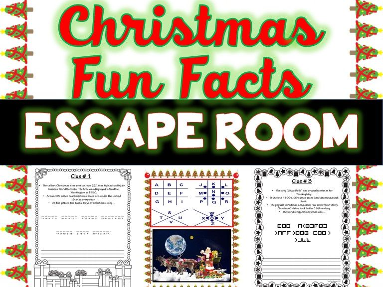 Christmas Fun Facts Escape Room