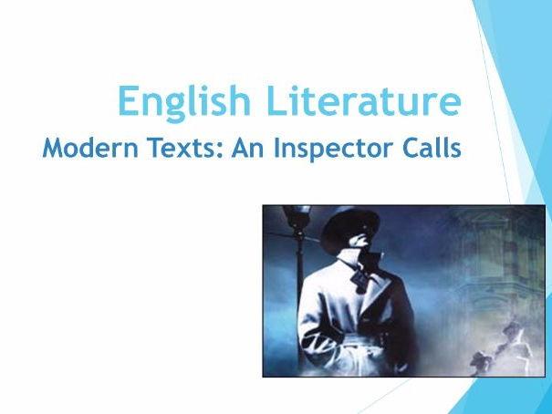 An Inspector Calls Week 7 lessons