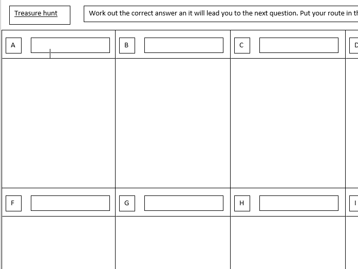 Treasure hunt template by osmith25 - Teaching Resources - Tes