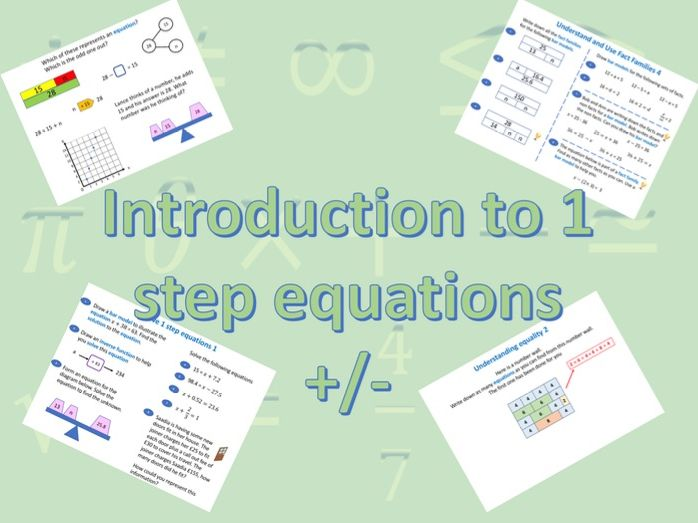 1 step equations add and subtract