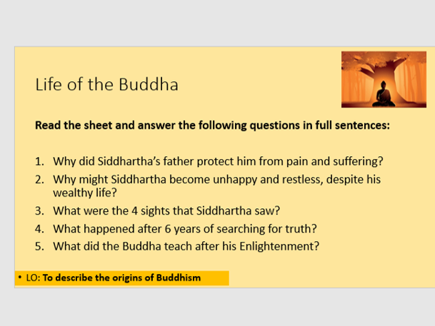 Life of The Buddha (lesson 2) - Suitable for Home Learning