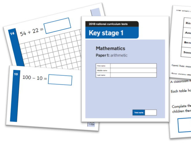 KS1 Maths Question Level Analysis Tool - 2018