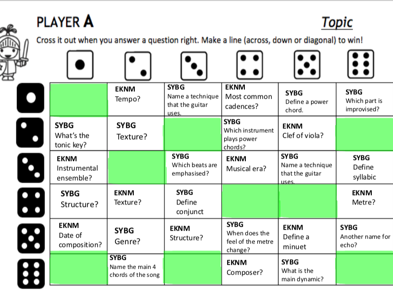 Lesson and Revision Game Pack- Eine Kleine Nachtmusik and Since You've Been Gone- Eduqas Music GCSE