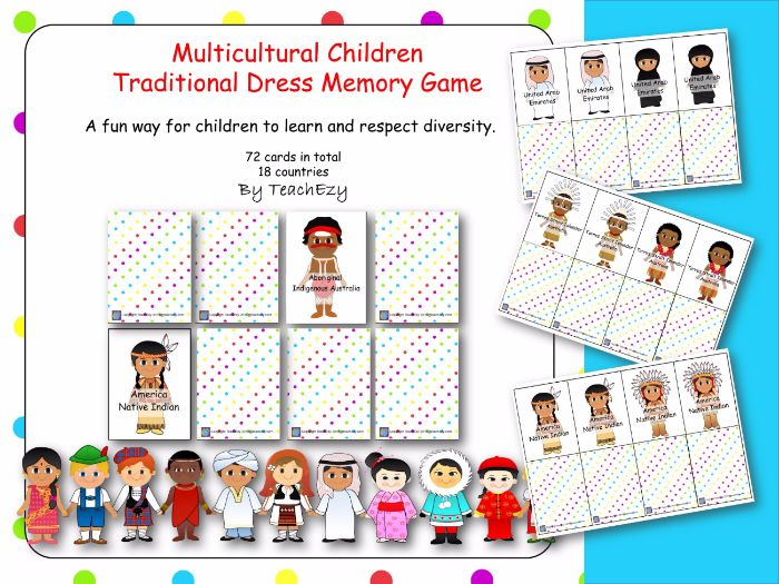 Multicultural Children of the World Memory Game