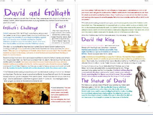 Old Testament Stories: David and Goliath: Differentiated Information and Activity Sheets