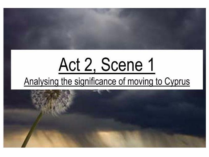 Othello Act 2 Scene 1 Tragedy