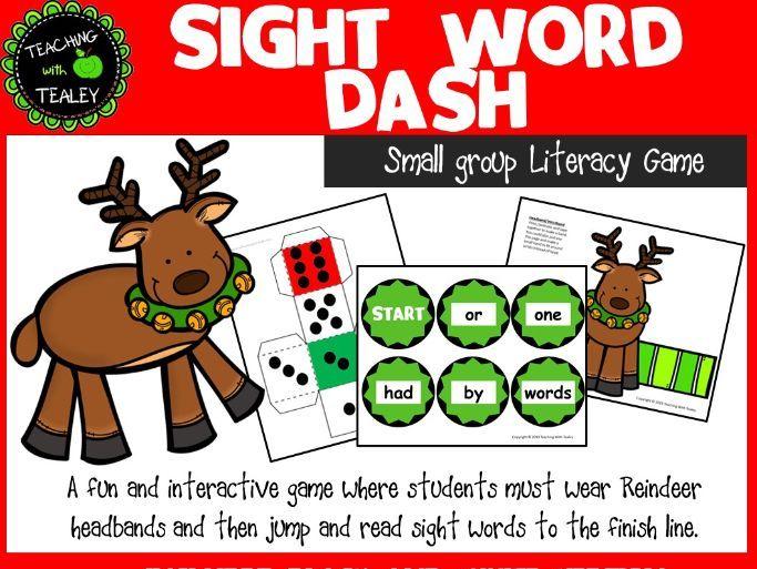 Sight Word Christmas Racing Game
