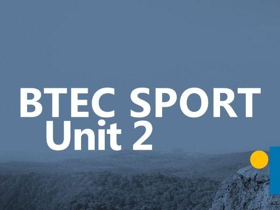 BTEC SPORT LEVEL 3 UNIT 2 - Exam Content Questions 1 - 3