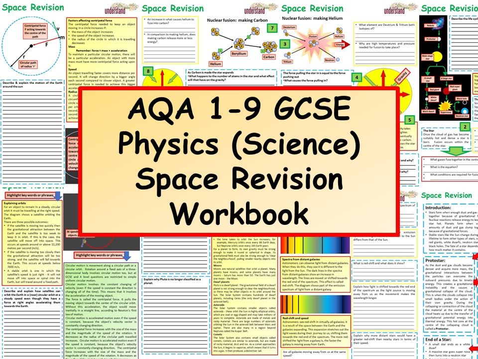 AQA 1-9 GCSE Physics (Science) Space Revision Workbook