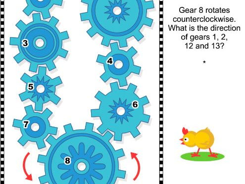 Visual Puzzle with Rotating Gears 2