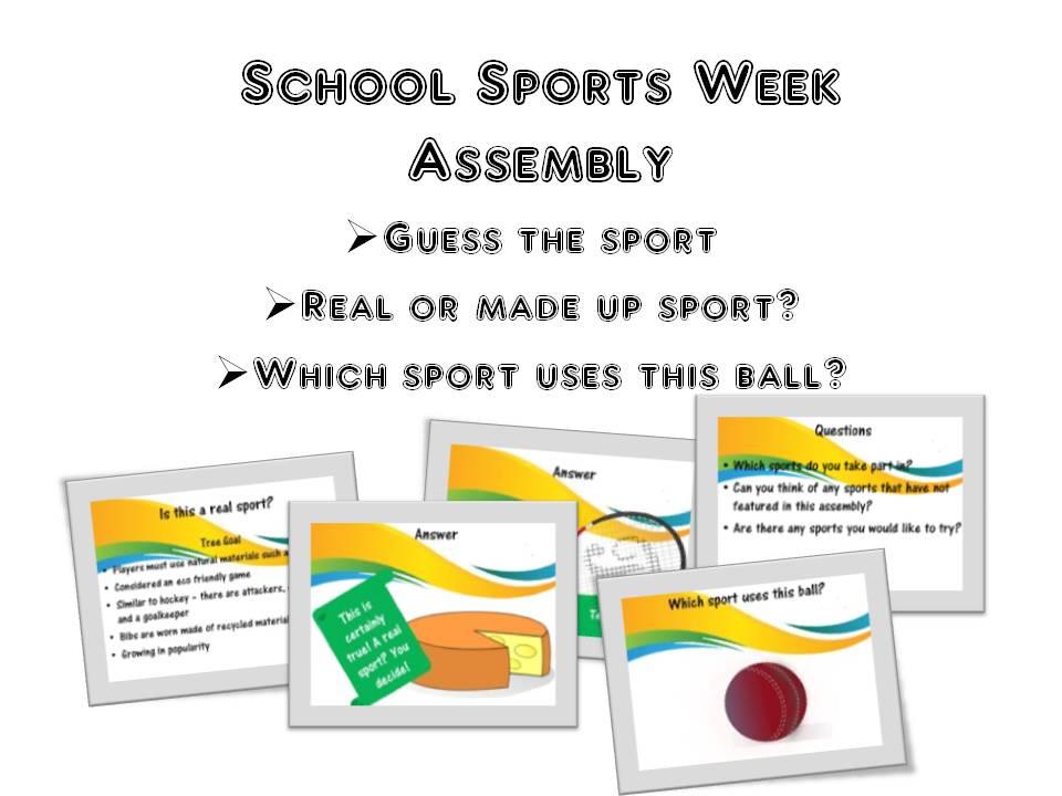 School Sports Week 2019 Assembly