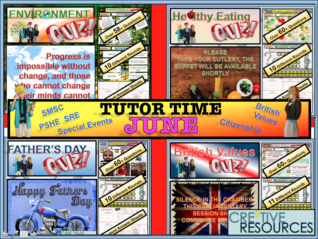 Tutor time activities - June