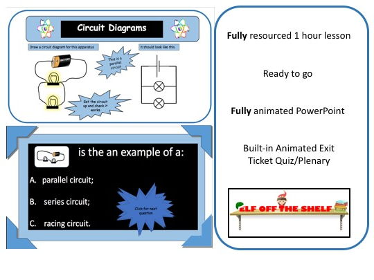 Electricity - Circuits and Symbols KS3 - Animated PowerPoint and Resources