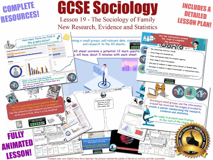 New Research, Evidence & Statistics - Sociology of Family L19/20 [ WJEC EDUQAS GCSE Sociology] (X2)