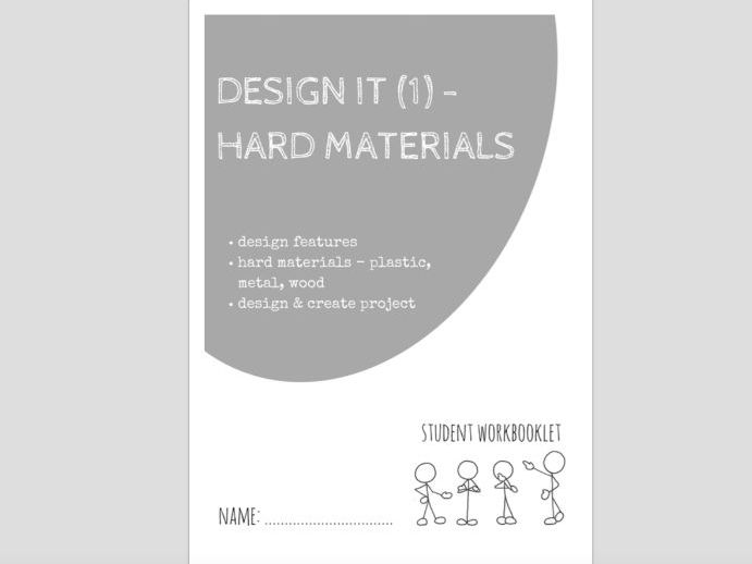 SPECIAL EDUCATION - DESIGN IT (1) - HARD (RESISTANT) MATERIALS, PLASTIC, METAL, WOOD workbooklet