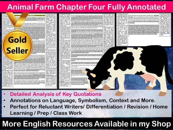 Animal Farm Chapter 4 Fully Annotated
