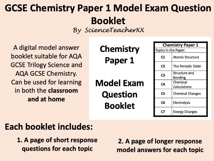 AQA GCSE Chemistry Paper 1 Revision Booklet