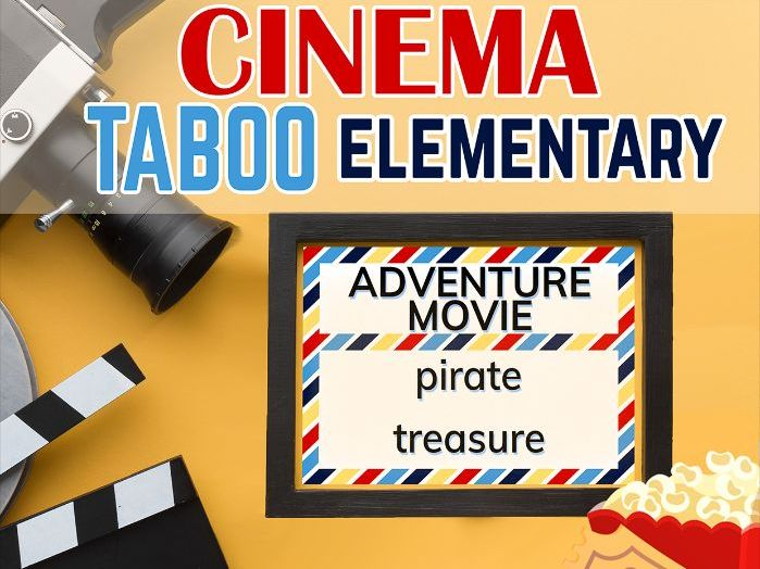 Cinema Vocabulary Taboo Elementary - Speaking Cards