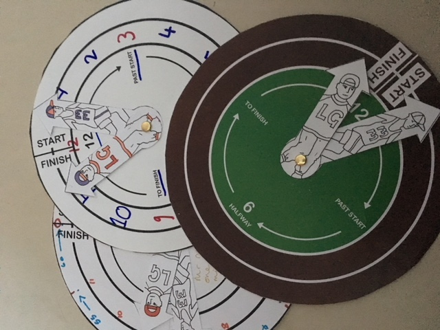 Clockwise: using a running track with two characters to teach analogue time.