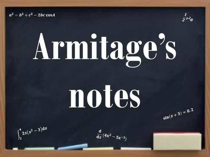 Equations and Quadratic Functions (Year 1 A : class notes + questions and answers (Armitage's notes)