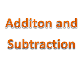 Addition and Subtraction  resources