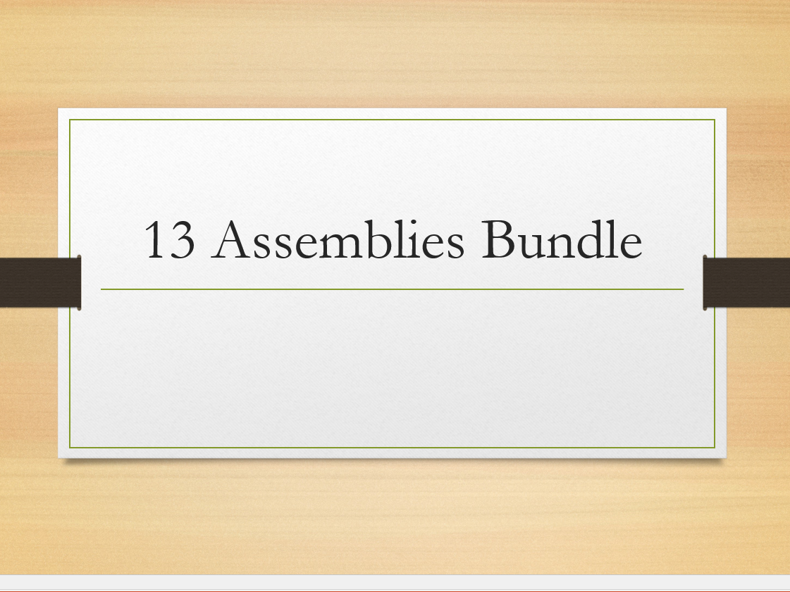 Assemblies Bundle x 13
