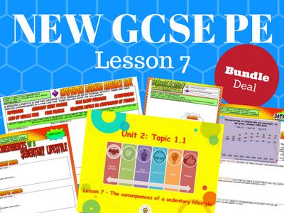 NEW Edexcel GCSE PE Unit 2 - Topic 1 - Lesson 7 BUNDLE PACK