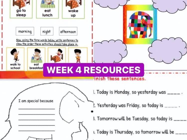 Back To School Resources (Week 4)