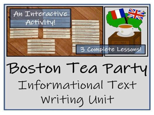 UKS2 History - The Boston Tea Party Informational Text Writing Unit