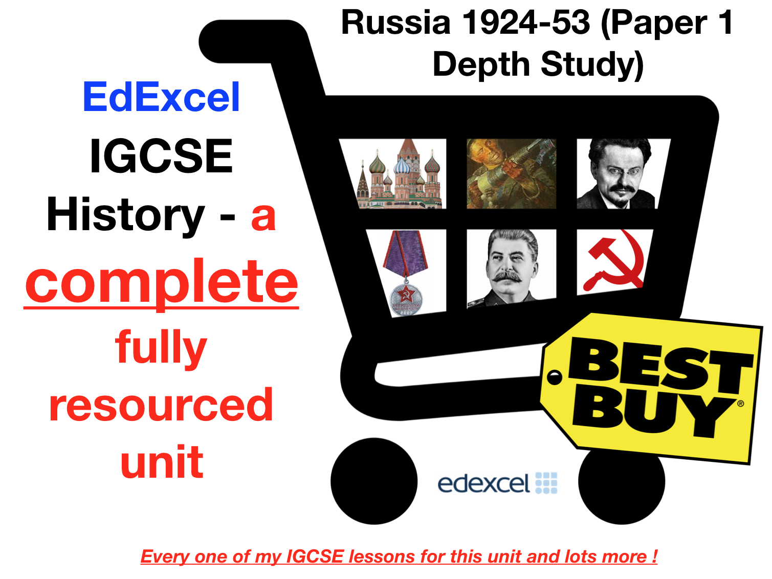 EdExcel IGCSE History Russia 1924-53 – Full Unit Paper 1 Depth Study Bundle (with Revision Menu)
