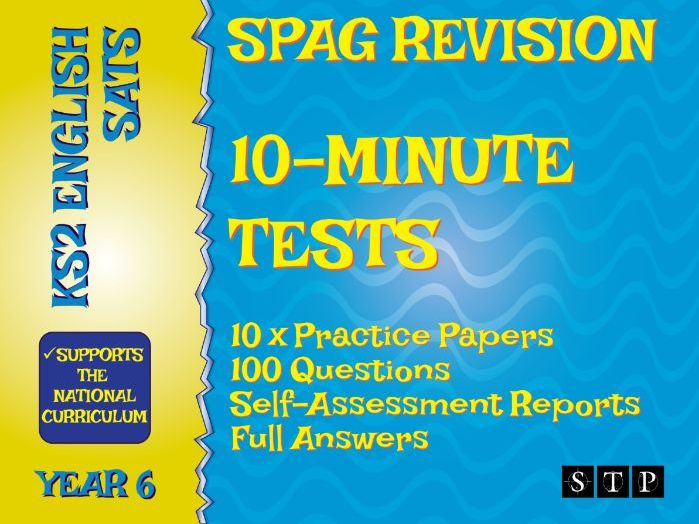 10 Minute SATs SPaG Practice Test Papers