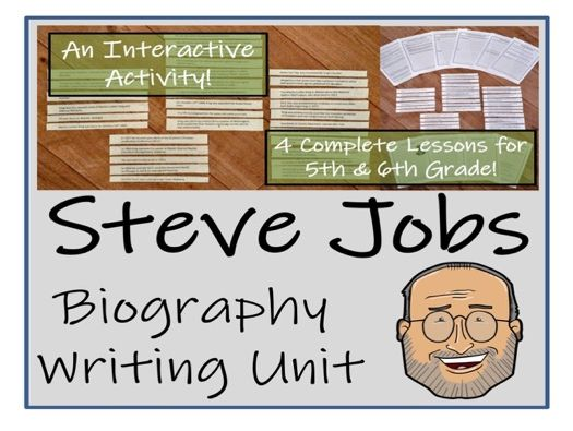 UKS2 Literacy - Steve Jobs Biography Writing Unit